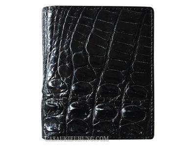 Bóp da đứng nam cá sấu lấy da lưng màu đen loại tốt