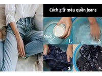Cách giặt làm quần jean mới mua không ra màu không phai màu