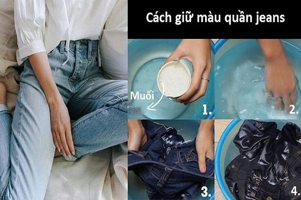cách giặt quần jean mới mua
