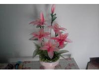 Cách làm hoa bằng vải voan để bàn đơn giản dễ làm