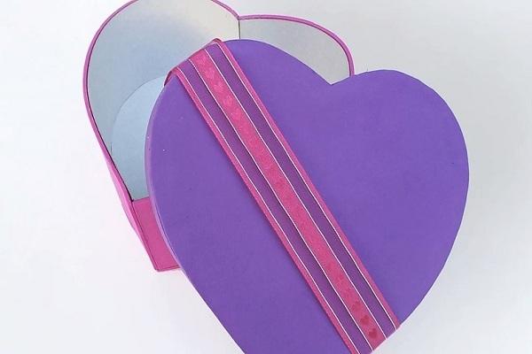 cách làm hộp quà trái tim đơn giản