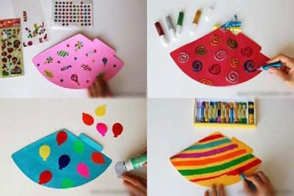 cách làm mũ sinh nhật bằng giấy