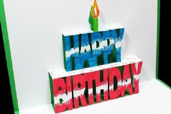 cách làm thiệp sinh nhật 3d chữ happy birthday