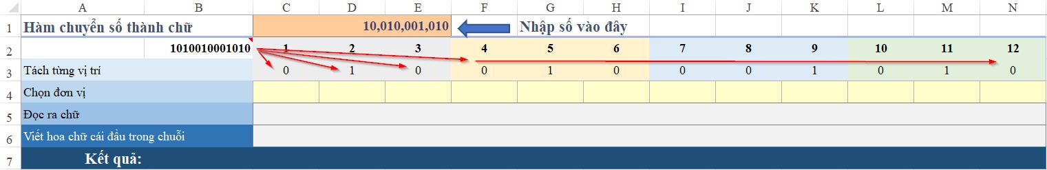 Cách làm hàm đổi số thành chữ trong excel 2016