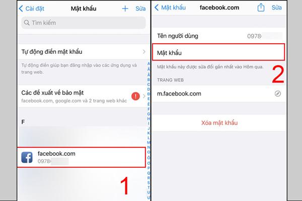 Cách xem mật khẩu facebook trên điện thoại iPhone