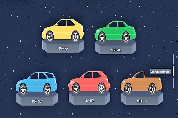 chọn màu xe theo phong thủy