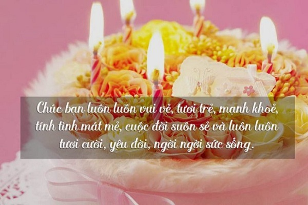 chúc mừng sinh nhật bạn thân dài