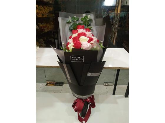 Hoa hồng sáp 9 bông