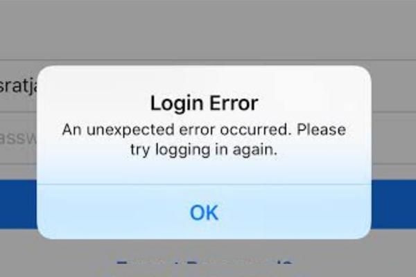 Lỗi an unexpected error has occurred Facebook