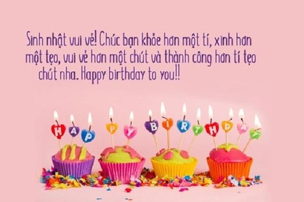 lời chúc sinh nhật bá đạo cho bạn thân