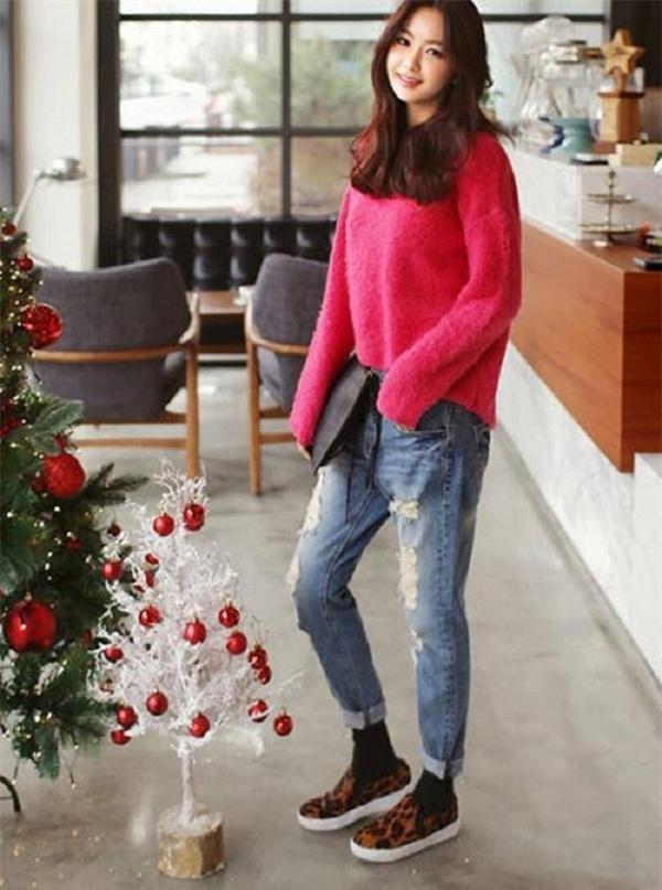 quần baggy jean mặc với áo gì