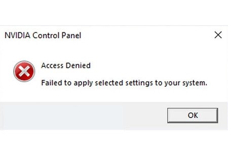 Sửa lỗi access denied failed to apply selected Settings to your system
