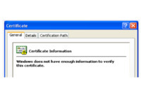 Sửa lỗi windows does not have enough information to verify this certificate