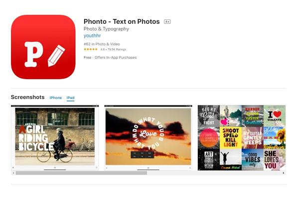 Phần mềm viết chữ nghệ thuật lên ảnh Phonto