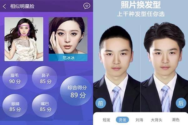 App phân tích khuôn mặt chọn kiểu tóc Trung Quốc